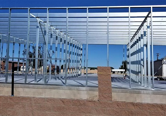 Commercial construction for industrial building